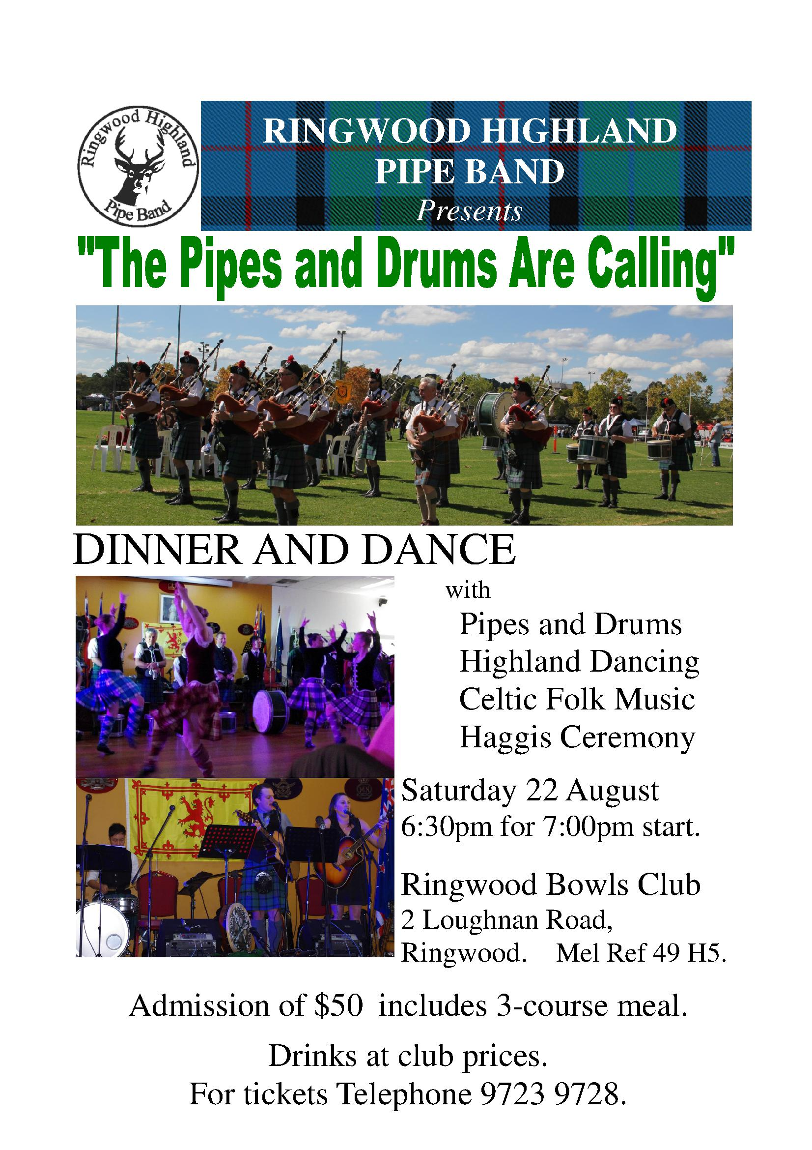 The Pipes And Drums Are Calling  - 22 08 2015